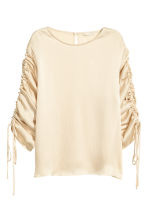 Blouse with drawstrings - Light beige - Ladies | H&M 2